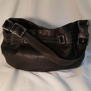 DKNY • Black Leather Shoulder Bag